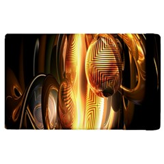 Digital Art Gold Apple Ipad 2 Flip Case by Alisyart