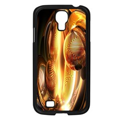Digital Art Gold Samsung Galaxy S4 I9500/ I9505 Case (black) by Alisyart