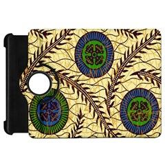 Fabrick Batik Brown Blue Green Leaf Flower Floral Kindle Fire Hd 7  by Alisyart