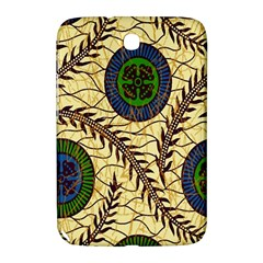 Fabrick Batik Brown Blue Green Leaf Flower Floral Samsung Galaxy Note 8 0 N5100 Hardshell Case  by Alisyart