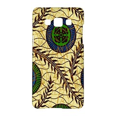 Fabrick Batik Brown Blue Green Leaf Flower Floral Samsung Galaxy A5 Hardshell Case  by Alisyart
