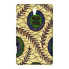 Fabrick Batik Brown Blue Green Leaf Flower Floral Samsung Galaxy Tab S (8 4 ) Hardshell Case  by Alisyart
