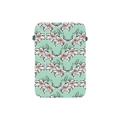 Flower Floral Lilly White Blue Apple Ipad Mini Protective Soft Cases by Alisyart