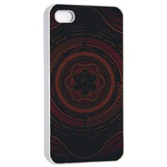 Hand Illustration Graphic Fabric Woven Red Purple Yellow Apple Iphone 4/4s Seamless Case (white)