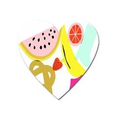 Fruit Watermelon Strawberry Banana Orange Shoes Lime Heart Magnet by Alisyart