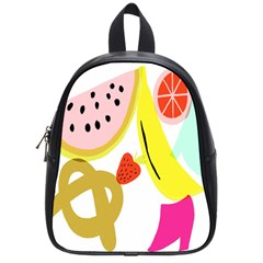 Fruit Watermelon Strawberry Banana Orange Shoes Lime School Bags (small)  by Alisyart