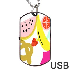 Fruit Watermelon Strawberry Banana Orange Shoes Lime Dog Tag Usb Flash (two Sides) by Alisyart