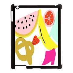 Fruit Watermelon Strawberry Banana Orange Shoes Lime Apple Ipad 3/4 Case (black) by Alisyart