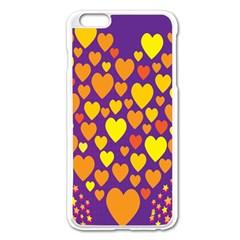 Heart Love Valentine Purple Orange Yellow Star Apple Iphone 6 Plus/6s Plus Enamel White Case by Alisyart