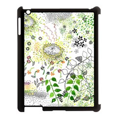 Flower Flowar Sunflower Rose Leaf Green Yellow Picture Apple Ipad 3/4 Case (black) by Alisyart