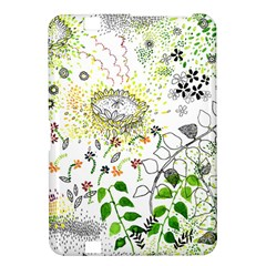 Flower Flowar Sunflower Rose Leaf Green Yellow Picture Kindle Fire Hd 8 9  by Alisyart