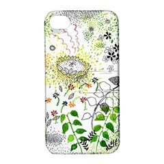 Flower Flowar Sunflower Rose Leaf Green Yellow Picture Apple Iphone 4/4s Hardshell Case With Stand by Alisyart