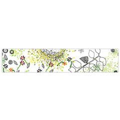 Flower Flowar Sunflower Rose Leaf Green Yellow Picture Flano Scarf (small) by Alisyart