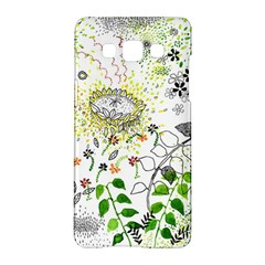 Flower Flowar Sunflower Rose Leaf Green Yellow Picture Samsung Galaxy A5 Hardshell Case  by Alisyart