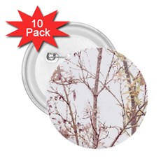 Textured Nature Print 2 25  Buttons (10 Pack)