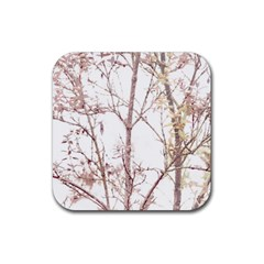 Textured Nature Print Rubber Coaster (square)  by dflcprints