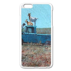 Goats On A Pickup Truck Apple Iphone 6 Plus/6s Plus Enamel White Case by theunrulyartist