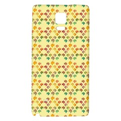 Tropical Fish Yellow Galaxy Note 4 Back Case by CannyMittsDesigns
