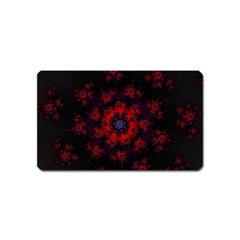 Fractal Abstract Blossom Bloom Red Magnet (name Card) by Amaryn4rt