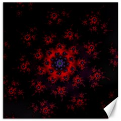 Fractal Abstract Blossom Bloom Red Canvas 16  X 16   by Amaryn4rt