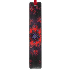 Fractal Abstract Blossom Bloom Red Large Book Marks by Amaryn4rt