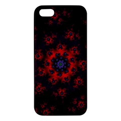 Fractal Abstract Blossom Bloom Red Iphone 5s/ Se Premium Hardshell Case by Amaryn4rt