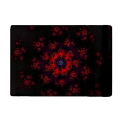 Fractal Abstract Blossom Bloom Red Ipad Mini 2 Flip Cases by Amaryn4rt