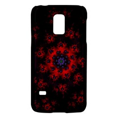Fractal Abstract Blossom Bloom Red Galaxy S5 Mini by Amaryn4rt
