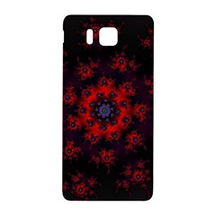Fractal Abstract Blossom Bloom Red Samsung Galaxy Alpha Hardshell Back Case by Amaryn4rt