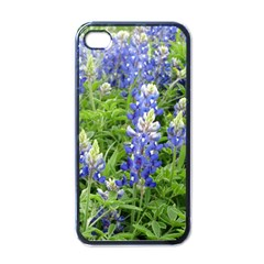 Blue Bonnets Apple Iphone 4 Case (black)
