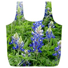Blue Bonnets Full Print Recycle Bags (l)