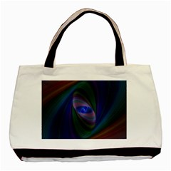 Ellipse Fractal Computer Generated Basic Tote Bag by Amaryn4rt