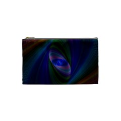 Ellipse Fractal Computer Generated Cosmetic Bag (small)  by Amaryn4rt