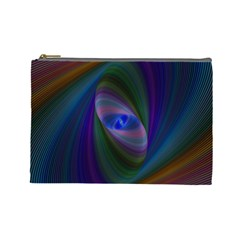 Ellipse Fractal Computer Generated Cosmetic Bag (large)  by Amaryn4rt