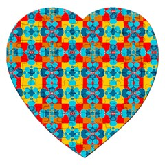 Pop Art Abstract Design Pattern Jigsaw Puzzle (heart) by Amaryn4rt