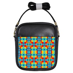 Pop Art Abstract Design Pattern Girls Sling Bags by Amaryn4rt