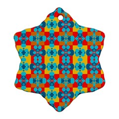 Pop Art Abstract Design Pattern Snowflake Ornament (two Sides) by Amaryn4rt