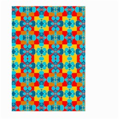 Pop Art Abstract Design Pattern Large Garden Flag (two Sides) by Amaryn4rt