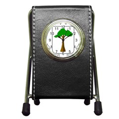 Coat Of Arms Of Equatorial Guinea Pen Holder Desk Clocks by abbeyz71