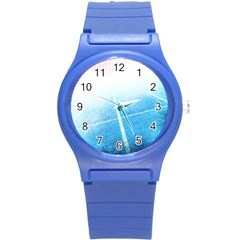 Court Sport Blue Red White Round Plastic Sport Watch (s)
