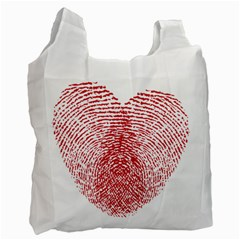 Heart Love Valentine Red Recycle Bag (one Side) by Alisyart