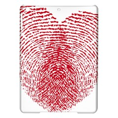 Heart Love Valentine Red Ipad Air Hardshell Cases by Alisyart