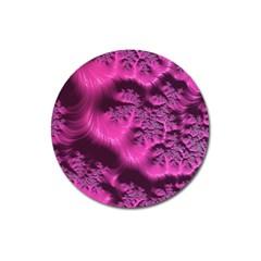 Fractal Artwork Pink Purple Elegant Magnet 3  (round) by Amaryn4rt