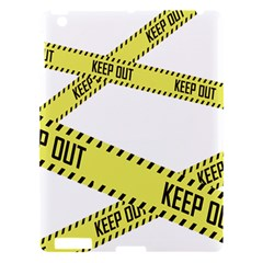 Keep Out Police Line Yellow Cross Entry Apple Ipad 3/4 Hardshell Case by Alisyart