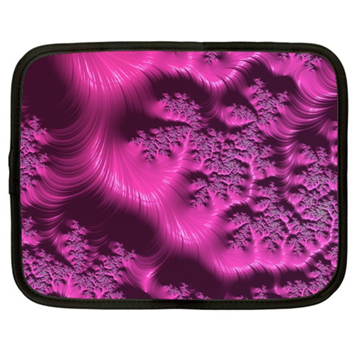 Fractal Artwork Pink Purple Elegant Netbook Case (Large)