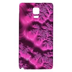 Fractal Artwork Pink Purple Elegant Galaxy Note 4 Back Case by Amaryn4rt