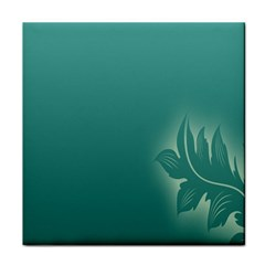 Leaf Green Blue Branch  Texture Thread Tile Coasters by Alisyart