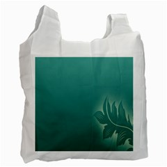 Leaf Green Blue Branch  Texture Thread Recycle Bag (one Side) by Alisyart