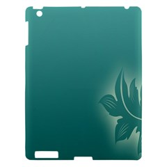 Leaf Green Blue Branch  Texture Thread Apple Ipad 3/4 Hardshell Case by Alisyart