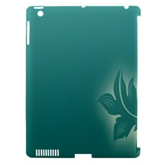 Leaf Green Blue Branch  Texture Thread Apple Ipad 3/4 Hardshell Case (compatible With Smart Cover) by Alisyart
